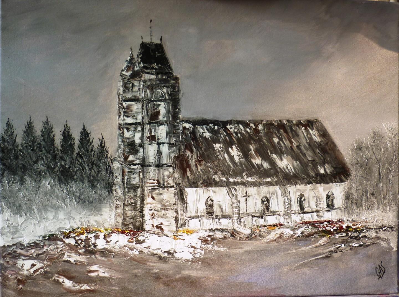"""Gas - """" L'Eglise de Berneuil en pays Samarien """""""