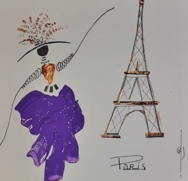 La Demoiselle à  Paris, avec son jupon violet